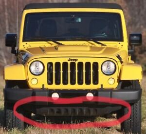 JEEP WRANGLER FRONT BUMPER LOWER AIR DAM SKID PLATE