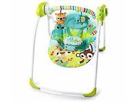 Brand New Bright Starts Smiling Safari Portable Swing