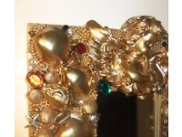 mirror, gold bling decorative