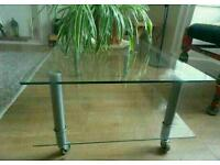Glass coffee table or tv unit