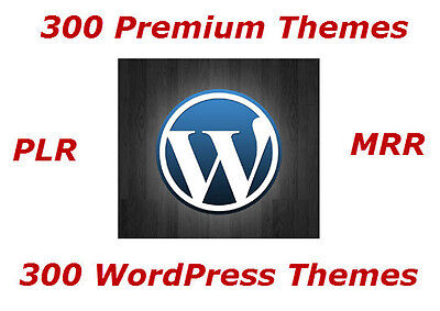 300 Premium Wordpress Themes With Resell Rights   Cd Dvd
