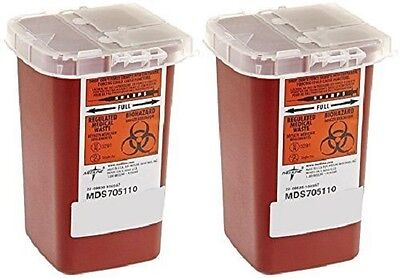 2 Pack --dynarex 1 Quart Sharps Container Biohazard Needle Disposal Tattoo