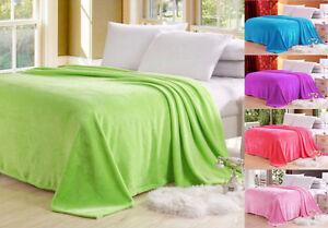 wonderful microplush throw blanket rug plush fleece sofa bed decor big x 2m ebay. Black Bedroom Furniture Sets. Home Design Ideas