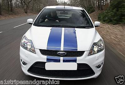 "2011 - 2016 Ford Focus 8"" Plain Rally stripes Stripe Graphics Fit all Models"