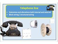 Telephone engineer telephone extensions telephone line alterations telephone line repair