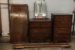 5 Piece Wood Bedroom set for sale