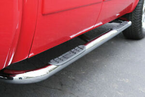 """Side Steps - 3"""" Round Stainless - 09-18 Ram Quad Cab - Sale"""
