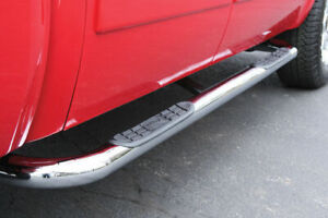 """Side Steps - 3 """" Round Stainless - 04-08 Ford F-150 - Super Crew"""