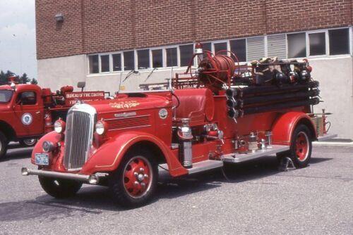 Acton MA Engine 4 1936 Seagrave REO Pumper - Fire Apparatus Slide