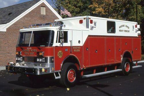 Wading River NY 1990 Pierce Dash 4x4 Heavy Rescue - Fire Apparatus Slide