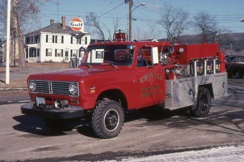Northfield MA Engine 2 1970s International Mini Pumper - Fire Apparatus Slide