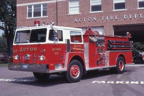 Acton MA Engine 23 1977 Hendrickson Continental Pumper - Fire Apparatus Slide