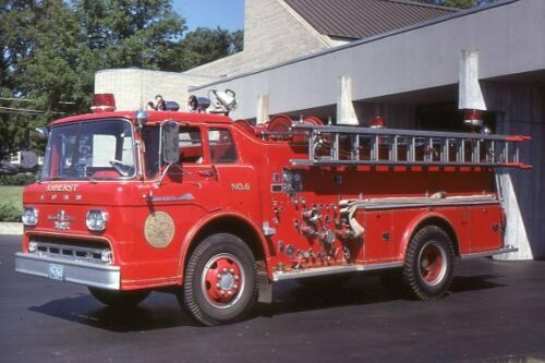 Amherst MA Engine 5 1963 Ford C Howe Pumper - Fire Apparatus Slide