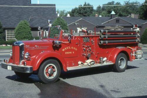 Wayland MA Engine 5 1953 Mack LS85 Pumper - Fire Apparatus Slide