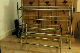 2x exstending shoe racks stackable