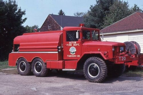 Acton MA Tanker 20 1952 REO 6x6 - Fire Apparatus Slide