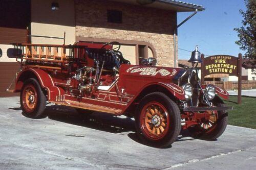Casper WY Engine 1 1918 American LaFrance Pumper - Fire Apparatus Slide