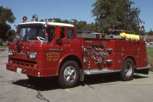 Pierre SD E4 1960 Ford C American LaFrance Pumper - Fire Apparatus Slide