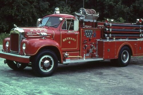 Bethany CT Engine 4 1957 Mack B Model Pumper - Fire Apparatus Slide