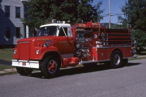 Bellows Falls VT 1974 International Boyer Pumper - Fire Apparatus Slide