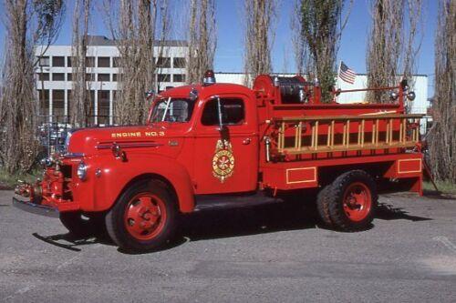 Louviers CO 1943 Ford Hahn Barton Pumper - Fire Apparatus Slide