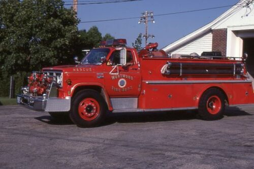 Westwood MA Rescue 1 1977 GMC Maynard Rescue Pumper - Fire Apparatus Slide