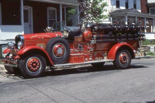 Hackettstown NJ 1930s Seagrave Pumper - Fire Apparatus Slide