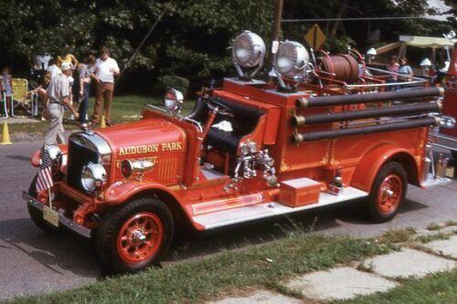 Audubon Park NJ 1927 Hahn Pumper - Fire Apparatus Slide