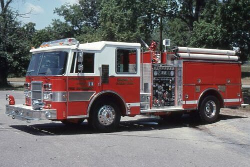 Potomac Heights MD Engine 71 1991 Pierce Dash Pumper - Fire Apparatus Slide