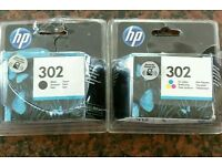HP 302 ink - colour and black