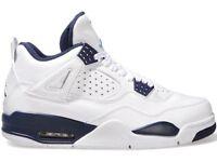 Nike Air Jordan 4 Retro LS 'Columbia' Size UK 8 10 Brand New