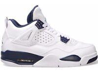 Nike Air Jordan 4 Retro BG 'Columbia' Size UK 5.5 6 Brand New