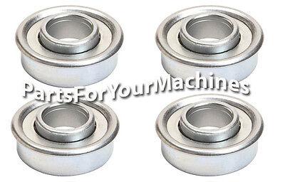 4 Flange Wheel Bearings 1 18 Od X 12 Id Most Push Lawnmowers Wagons Toys