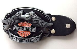 Harley Davidson An American Legend Biker Belt Buckle-Maltese Cross-Solid Built