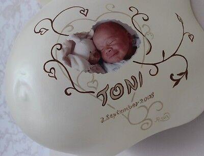 (94,44 €/m²) 1 Blatt A4 Spezial Fotofolie für Babyfoto auf Gipsabdruck Babybauch