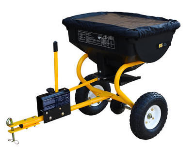 Large Tow Behind Broadcast Spreader Hopper Fertilizer Seed ATV Lawn Tractor Pull ()