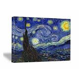 Starry Night Van Gogh Painting Fine Art Canvas Print Reproduction Picture Framed