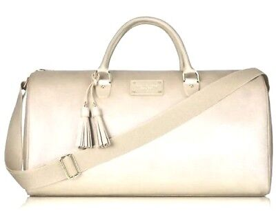 NEW Michael Kors Glam on the Go Weekender Large Gold Travel Duffle Tote Bag  Large Glam Bow