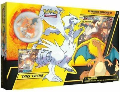 Reshiram and Charizard GX Tag Team Figure Collection Pokemon Box Rare - New TCG