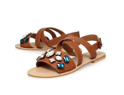 Carvela Kurt Geiger Best Jewelled Sandals UK 4 EU 37 JS39 03 SALEs 03 Jeweled Sandals