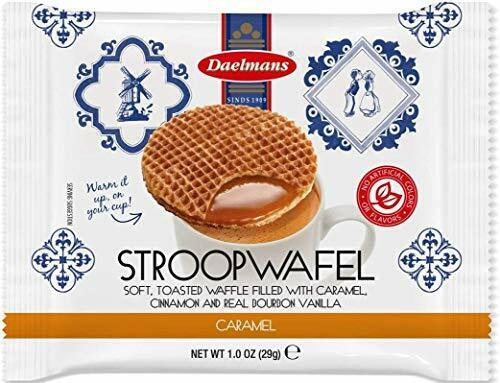 DAELMANS Stroopwafels, Dutch Waffles Soft Toasted, 24 Pack Caramel