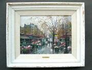Paris Street Scenes Oil Paintings