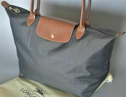NEW Longchamp Le Pliage tote bag Large L Grey Handbag