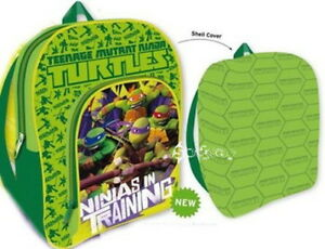 Official Teenage Mutant Ninja Turtles School Backpack Front Pocket & Shell Cover