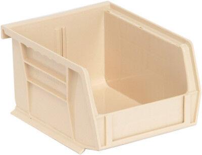 Quantum Plastic Stack And Hang Storage Bins 5-38 X 4-18 X 3 24cs Ivory