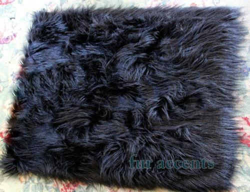 Black Faux Fur Rug Ebay