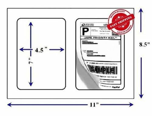 """QUALITY STAR Shipping Labels Self Adhesive, Round Corners, 7"""" x 4.5"""""""