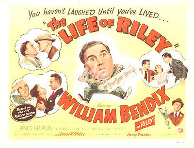 The Life of Riley Lobby Card - Title Card - William Bendix - 1949 - VG