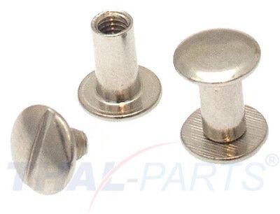 10er Pack Buchschrauben Chicagoschrauben 10mm Kopf 10mm Silbern