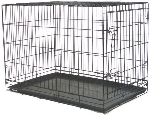 """NEW 48"""" Extra Large Folding Pet Dog Cage Crate Kennel With P"""